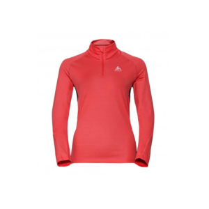 Odlo Midlayer 1/2 zip Sliq / Hot Coral - Black / Women