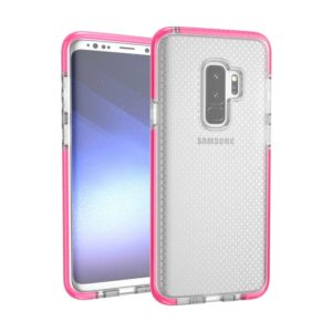 For Galaxy S9+ Basketball Texture Anti-collision TPU Protective Back Cover Case(Magenta)