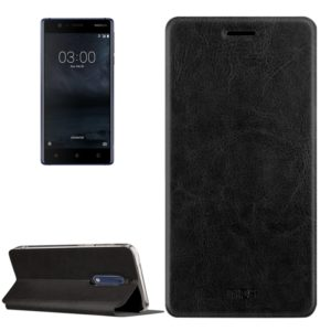 MOFI for Nokia 5 Crazy Horse Texture Horizontal Flip Leather Case with Holder(Black) (MOFI)