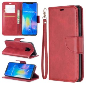 Retro Lambskin Texture Pure Color Horizontal Flip PU Leather Case For Huawei Mate 20 Pro, with Holder & Card Slots & Wallet & Lanyard(Red)