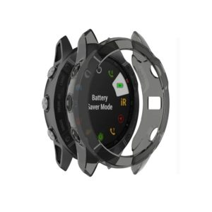 For Garmin Fenix 6X TPU Half Coverage Smart Watch Protevtice Case (Black)