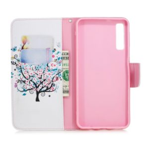 Colored Drawing Pattern Horizontal Flip Leather Case for Samsung Galaxy A7&A750,with Holder & Card Slots & Wallet(Tree)