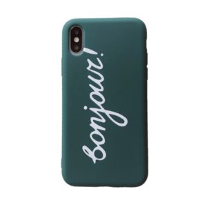 Creative Frosted Painted Bonjour Shockproof Protective Case for iPhone XS Max