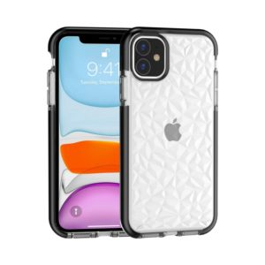 For iPhone 11 Shockproof Diamond Texture TPU Protective Case(Black)