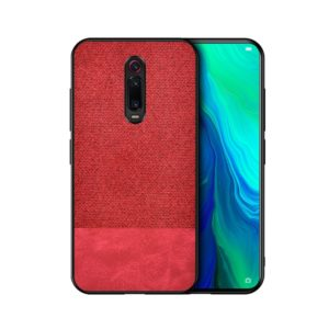 Shockproof Splicing PU + Cloth Protective Case for Xiaomi Redmi K20 Pro(Red)