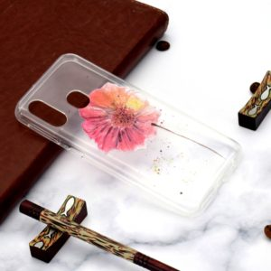 Fashion Pattern TPU Shockproof Protective Case for Galaxy A40(Flower)