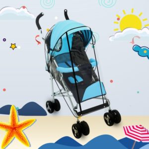 Adjustable Transparent Cover For Golf Carts, Baby Strollers And Wheelchairs To Provide Protection From Rain, Wind, and Mist, even mosquito(Transparent food grade small size straight line mode)