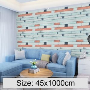 Wood Stone Creative 3D Stone Brick Decoration Wallpaper Stickers Bedroom Living Room Wall Waterproof Wallpaper Roll, Size: 45 x 1000cm