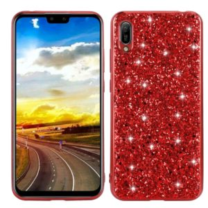 For Huawei Y6 Pro / Enjoy 9e Glittery Powder Shockproof TPU Case(Red)