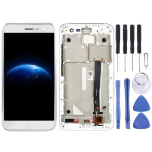 LCD Screen and Digitizer Full Assembly with Frame for Asus ZenFone 3 ZE520KL Z017D Z017DA Z017DB (White)