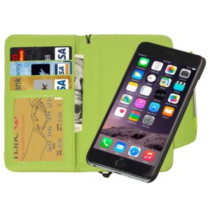 2 in 1 Separable Wallet Style Magnetic Flip PU Leather Case with Lanyard for iPhone 6 & 6S(Green)