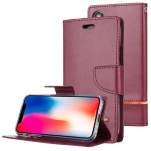 GOOSPERY PERSONA DIARY Horizontal Flip Leather Case with Holder & Card Slots & Wallet for iPhone X / XS(Wine) (GOOSPERY)