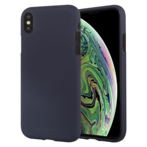 GOOSPERY SOFT FEELING Liquid TPU Drop-proof Soft Protective Case for iPhone XS Max(Dark Blue) (GOOSPERY)