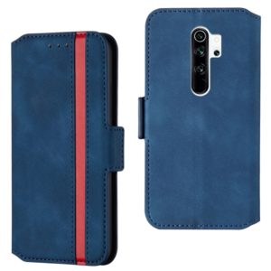 For Xiaomi Redmi Note 8 Pro Retro Frosted Oil Side Horizontal Flip Case with Holder & Card Slots(Blue)