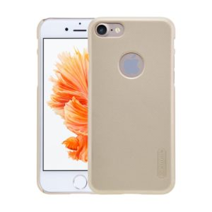 NILLKIN Frosted Shield for iPhone 7 Concave-convex Texture PC Protective Case Back Cover(Gold) (NILLKIN)