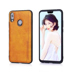 For Huawei Y9 (2019) Diaobaolee Shockproof PU + TPU Protective Case(Yellow) (Diaobaolee)
