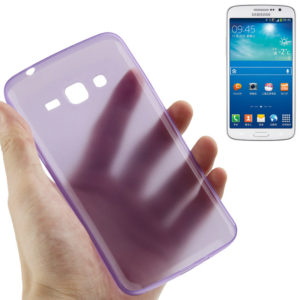 0.3mm Ultra-thin Polycarbonate Material PC Protection Shell for Galaxy Grand 2 / G7106, Transparent Version / Matte Edition(Purple)