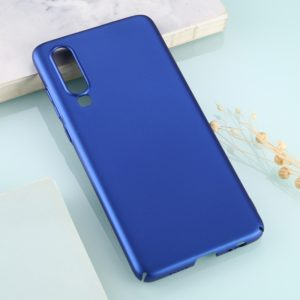 For Huawei P30 Solid Color Plastic Protective Case(Blue)