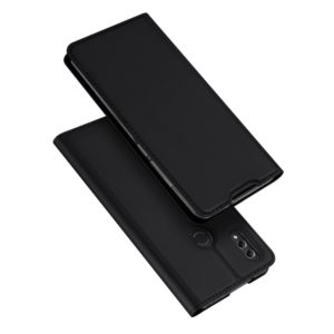 DUX DUCIS Skin Pro Series Horizontal Flip PU + TPU Leather Case for Huawei Honor 8X Max, with Holder & Card Slots (Black) (DUX DUCIS)