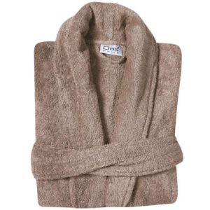 Μπουρνούζι Με Γιακά XXL Happy Bathrobes Colours Beige 1455 Cotton Das Home 1Τεμ