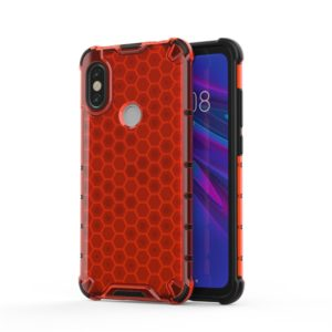 For Xiaomi Redmi Note5/Note5 Pro Shockproof Honeycomb PC + TPU Case(Red)