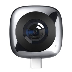 Huawei CV60 Panoramic Camera with Dual 1300 Megapixel Lens, Support 360 Degree Photo / Video, Asteroid / Crystal Ball / Fish Eye Effect, Self-timer, Social Sharing, Animation Production, VR Browsing(Grey) (Huawei)