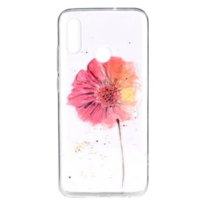 Stylish and Beautiful Pattern TPU Drop Protection Case for Huawei Y9 2019(Flower)