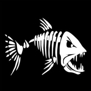 10 PCS YOJA Mad Fish Funny Decal Car Window Decoration Vinyl Stickers Motorcycle Accessories, Size: 11x7cm (Silver)
