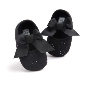 Soft Bottom Non-slip Toddler Shoes Princess Shoes for Baby(Black)