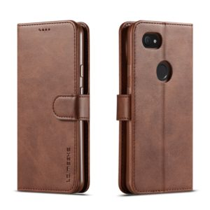 LC.IMEEKE For Google Pixel 3a / 3a XL Calf Texture Horizontal Flip Leather Case, with Holder & Card Slots & Wallet(Brown) (LC.IMEEKE)