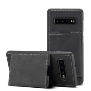 PU + TPU Protective Case with Card Slots for Galaxy S10+(Black)