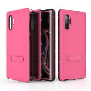 For Galaxy Note 10+ RedPepper Shockproof Waterproof Solid Color PC + TPU Protective Case with Holder(Pink) (RedPepper)