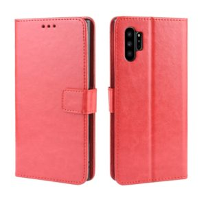 Retro Crazy Horse Texture Horizontal Flip Leather Case for Galaxy Note10 Pro , with Holder & Card Slots & Photo Frame(Red)