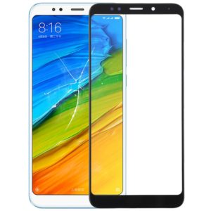 Front Screen Outer Glass Lens for Xiaomi Redmi Note 5 / Note 5 Pro(Black)