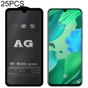 25 PCS AG Matte Frosted Full Cover Tempered Glass For Huawei Nova 5i