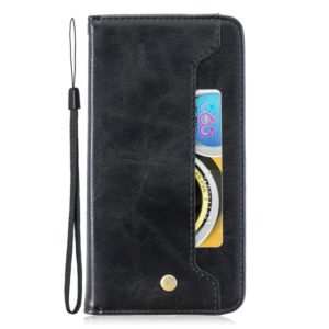 For Huawei P30 Pro Copper Buckle Nappa Texture Horizontal Flip Leather Case , with Holder & Card Slots & Wallet(Black)