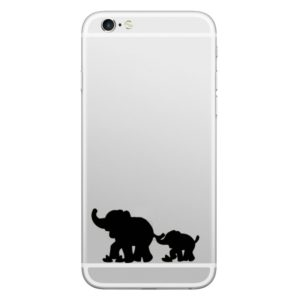 Hat-Prince Elephants Pattern Removable Decorative Skin Sticker for iPhone 8 & 8 Plus,iPhone 7 & 7 Plus , iPhone 6s & 6s Plus, iPhone 6 & 6 Plus (ENKAY)