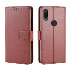Retro Crazy Horse Texture Horizontal Flip Leather Case for Xiaomi Redmi Note 7S, with Holder & Card Slots & Photo Frame(Brown)