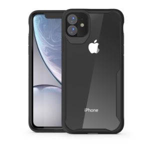 For iPhone 11 Pro Transparent PC + TPU Full Coverage Shockproof Protective Case(Black)