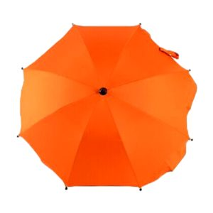 Adjustable Laciness Umbrella For Golf Carts, Baby Strollers/Prams And Wheelchairs To Provide Protection From Rain And The Sun(Orange Light)