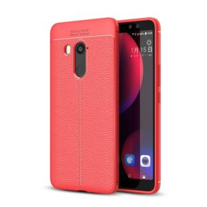 For HTC U11 Eyes Litchi Texture Soft TPU Protective Back Cover Case(Red)