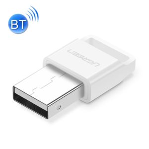 UGREEN USB 2.0 Bluetooth Adapter APTX Bluetooth V4.0 Dongle Audio Receiver Bluetooth Transmitter for PC, Transmission Distance: 20m(White) (UGREEN)