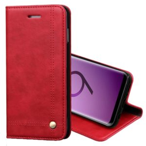 For Galaxy S9 Retro Crazy Horse Texture Casual Style with Absorption Horizontal Flip Leather Case with Holder & Card Slots & Wallet(Red)