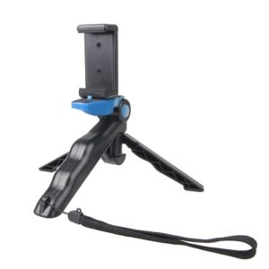 Portable Hand Grip / Mini Tripod Stand Steadicam Curve with Straight Clip for GoPro HERO 4 / 3 / 3+ / SJ4000 / SJ5000 / SJ6000 Sports DV / Digital Camera / iPhone , Galaxy and other Mobile Phone(Blue)