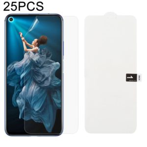 25 PCS Soft Hydrogel Film Full Cover Front Protector with Alcohol Cotton + Scratch Card for Huawei Honor 20 Pro
