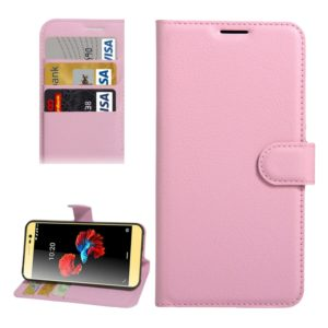 For ZTE A910 Litchi Texture Horizontal Flip PU Leather Case with Holder & Card Slots & Wallet(Pink)