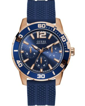 GUESS W1250G2 Mens Blue Rubber Strap
