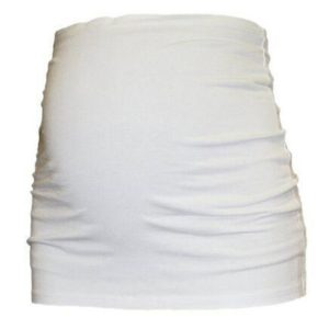Prenatal Care Special Pregnant Stomach Belt Waist Body Shaping Bandage Belt, Maternity Size:M(White)