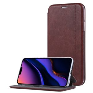 For iPhone 11 Pro Max Business Style Horizontal Flip Leather Case, with Holder & Card Slots(Dark Brown)