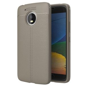 For Motorola Moto G5 Litchi Texture TPU Protective Back Cover Case (Grey)